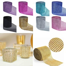 Buy 1 Yard/91.5cm Tulle Rolls Mesh Trim Bling Diamond Wrap Cake Tulle Roll Crystal Ribbons Party Wedding Decoration Party Supplies,Q for $1.26 in AliExpress store