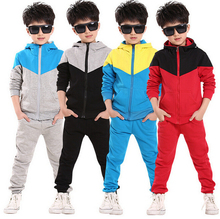 2015 new autumn children clothes outwear kids 2 piece sport suit boys clothing set hoodie+pants autumn baby casual sets(China (Mainland))