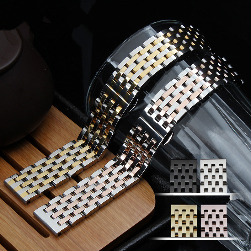 Men and women Rose gold 20mm 22mm Stainless Steel Metal Watch Band WatchBands Strap Bracelet <br><br>Aliexpress