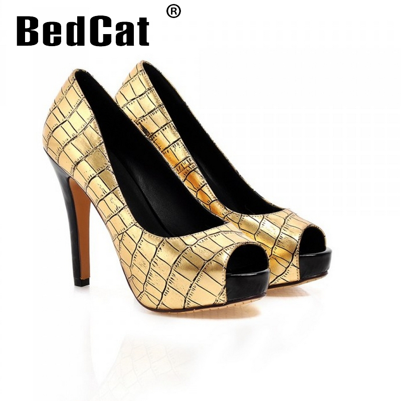 women stiletto high heel shoes platform sexy peep toe brand quality footwear fashion heeled pumps heels shoes size 34-43 P17608