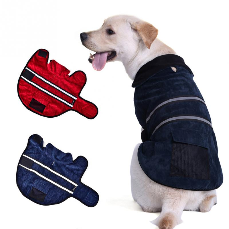 2016 Fashion Pet Dog Outdoor Cloak Creative Reflective Stripes Style Protective Pet Dog Puppy Winter Warm Jacket Pet Products(China (Mainland))
