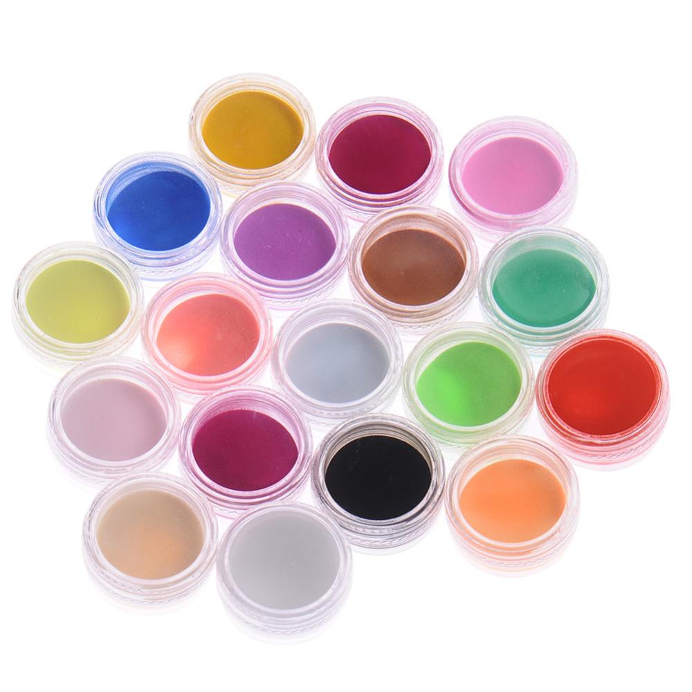 18Pcs/Set Mix Colors Acrylic Nail Art Dust Powder Decoration for Nail Art Decorations(China (Mainland))