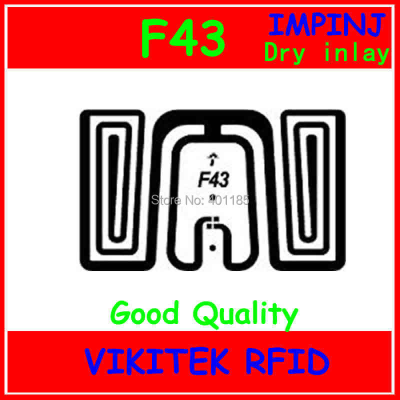 Impinj 860-960MHZ UHF RFID inlay (can be used to RFID tag and RFID label) F43<br><br>Aliexpress
