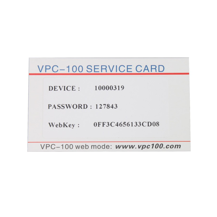 VPC-100 Pin Code Calculator with 300+200 Tokens (5)