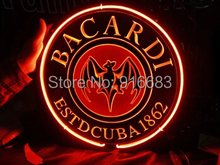 Neon Sign Light  BACARDI 3D engraving lights beer bar pub decoration advertising 35*35cm(China (Mainland))
