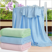 100% Bamboo Fiber Blanket Pink Adult Summer Towel Quilt Air Conditioning Blanket Home Hotel Super Soft Breathable Home Textile(China (Mainland))