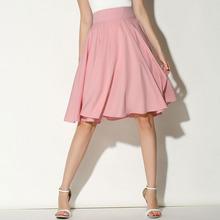 Midi Skirt 2016 Summer Women Clothing High Waist Pleated A Line Skater Vintage Casual Knee Length Saia Petticoat