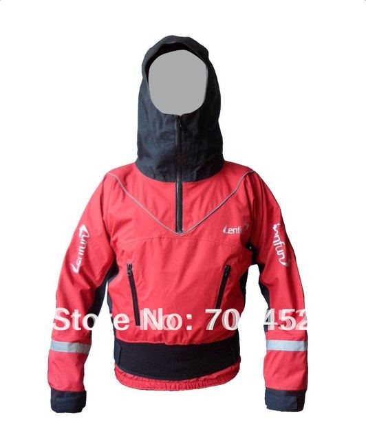 lenfun unisex dry top,kayak dry tops with hood,dry jacket, full dry cags for kayaking whitewater kayak fishing