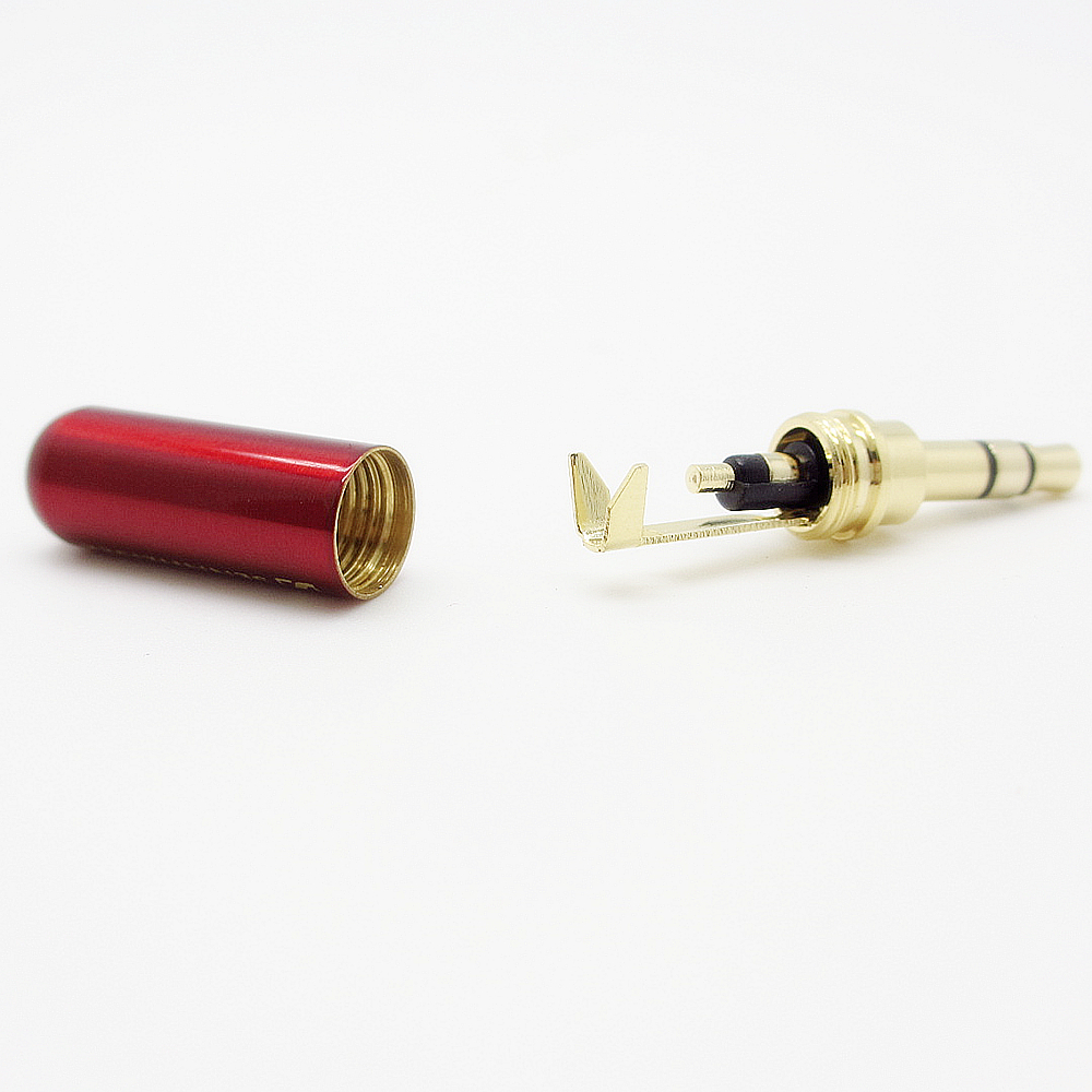 Free shipping 3 5 mm Audio jack connector Adapter gold plated headphone plug Laser light carving