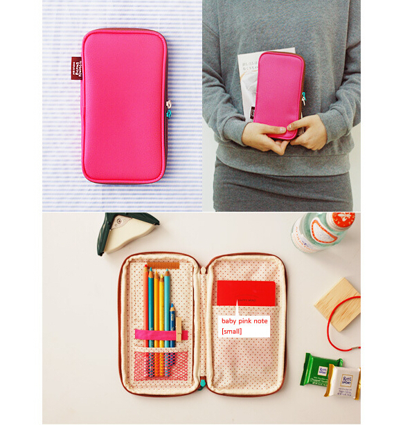 Candy Multifunctional Folding Pen Bag Case Holder Storage Pencilcase School Supplies Cosmetic Makeup Travelling Bag(China (Mainland))
