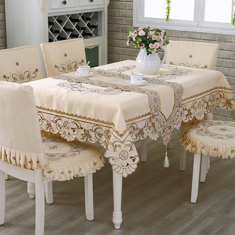 modern handmade embroidery table cloth for home decor
