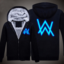 Winter Jackets Coats Faded Alan Walker hoodie Luminous Thick Zipper Men Sweatshirts - BlueDream Anime Store store