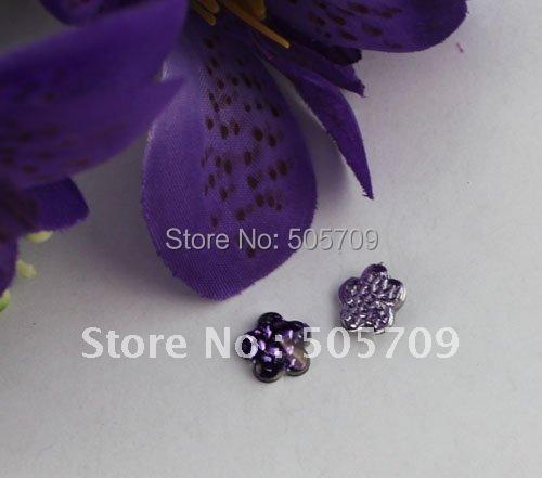 FREE SHIPPING 400PCS Violet Nest Acrylic Rhinestone Flower Flatback 10mm #22023(China (Mainland))
