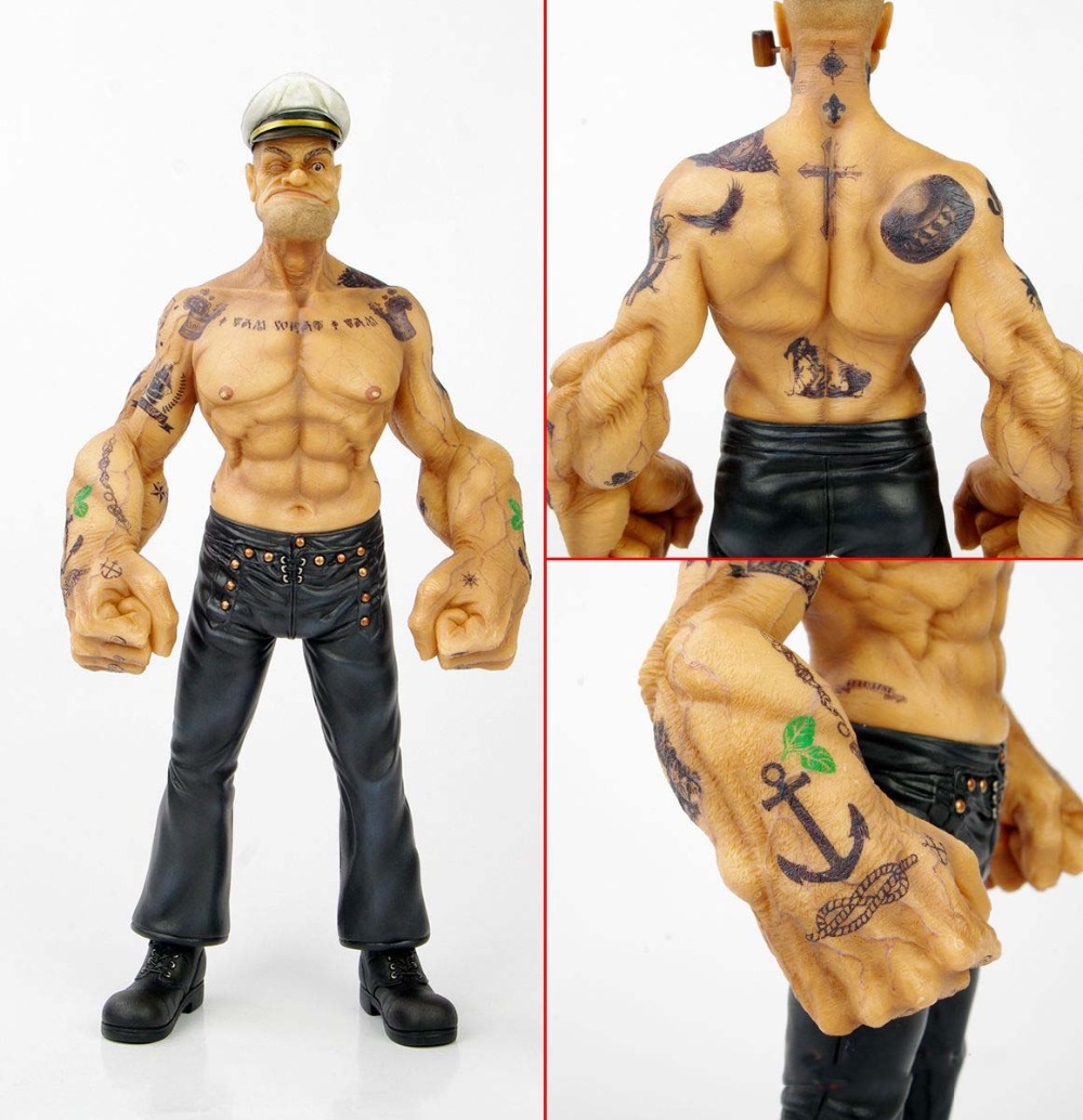 Headplay 1/6 Popeye Model Soldier Toys The Sailor Man 12 inch Statue Figure Doll Limited Edition DH502 TATTOO BODY Free Shipping<br><br>Aliexpress