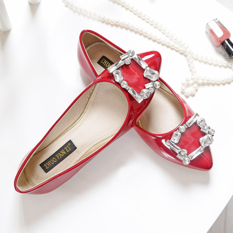 Kadin Ayakkabi Woman Shoes Spring 2016 Slipony Sweet Womens Flat Shoes Black Pointed Toe Chaussure Femme De Marque Dress Shoes<br><br>Aliexpress