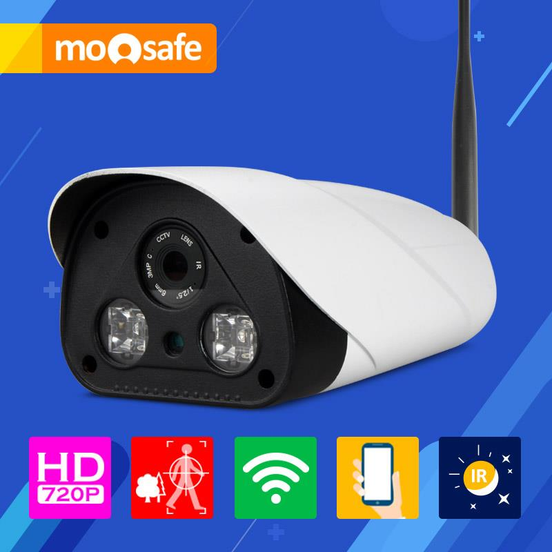 Mosafe 1920*1080P 2mp wifi ip camera 802.11 b/g/n outdoor 2 pcs IR LED array night vision waterproof Onvif Surveillance Cameras(China (Mainland))