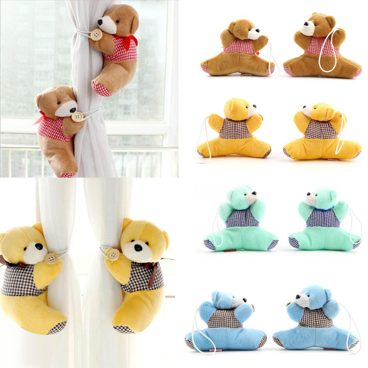 1 Pair Baby Kid Cartoon Bear Holder Nursery Bedroom Curtain Tieback Buckle Hook 4 Colors Free Shipping&Wholesales(China (Mainland))