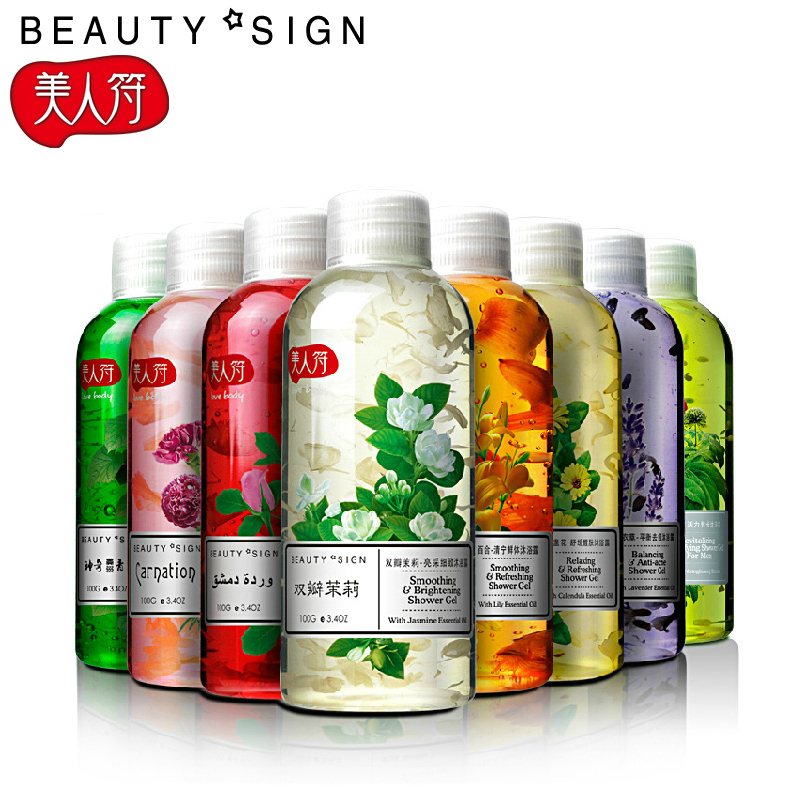 Beauty Shower Gels Skin care Good mood flower essential oil bath dew 8pcs*100ml Body Whitening Moisturizing