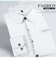 Мужская классическая рубашка D30 5XL Slim Fit Homme Plus camisa masculina
