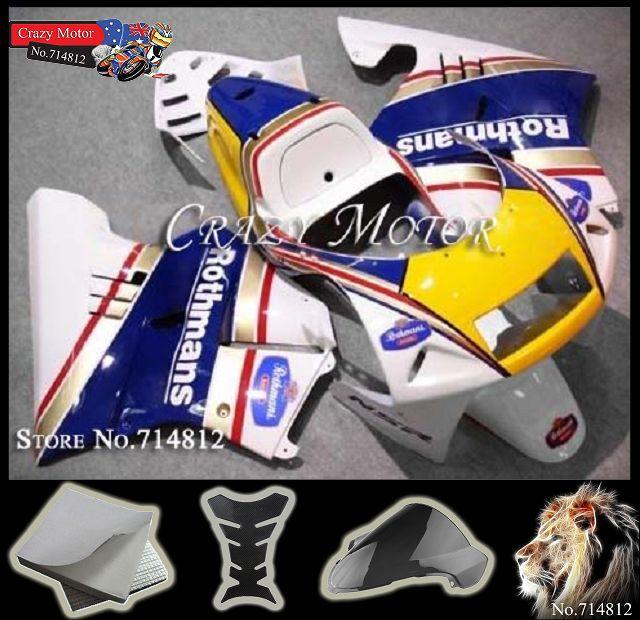 white blue yellow NSR 250R MC28 PGM4 1994 1995 1996 Body Kit Fairing Honda NSR250 R 94-96 250 - Crazy Motor store
