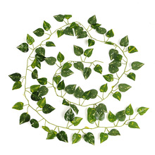 New Delightful Natural Artificial Ivy Leaves Plants Vine 2M Long Home Decor Wedding Party Decoration(China (Mainland))