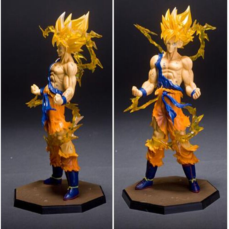 High quality - Anime 18CM dragon ball z action figures Super Saiyan Son Goku PVC Collectible Toy model for Birthday Gift(China (Mainland))