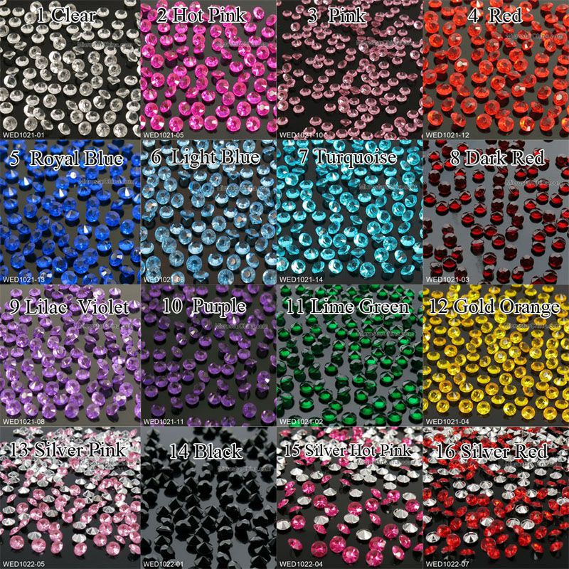 1000PCS 4 5mm 1 3ct Wedding Party Decoration Burgundy Dark Red Diamond Confetti Table Scatters Decoration