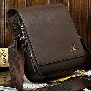 2017 Hot Sale Brand Soft Men Messenger Bags Big Promotion Kangaroo Pu Leather Shoulder Bags Men Handbag Casual Briefcase HS001(China (Mainland))