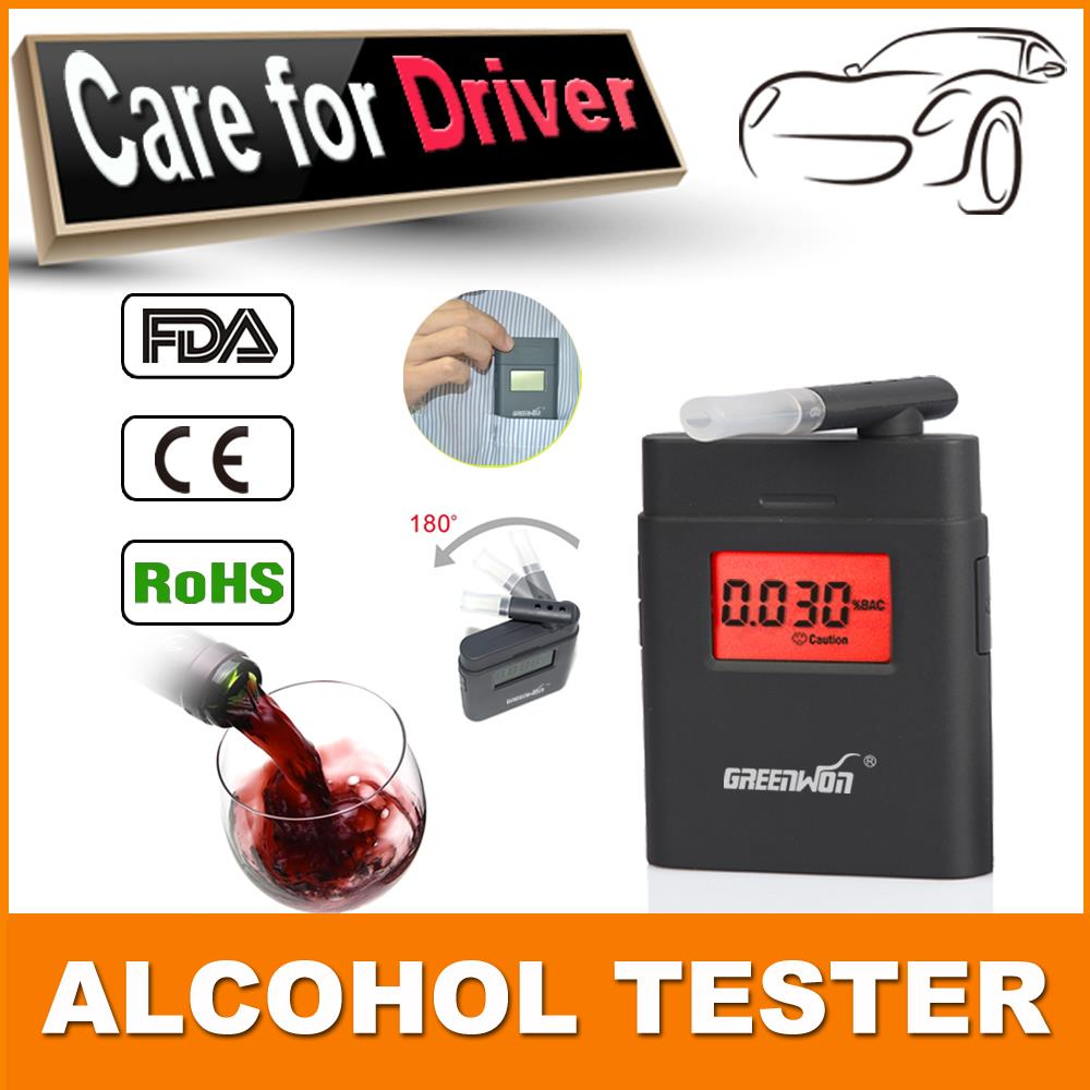 Free shipping police professional digital alcohol alcohol breath analyzer test meter alcohol alcohol detection(China (Mainland))