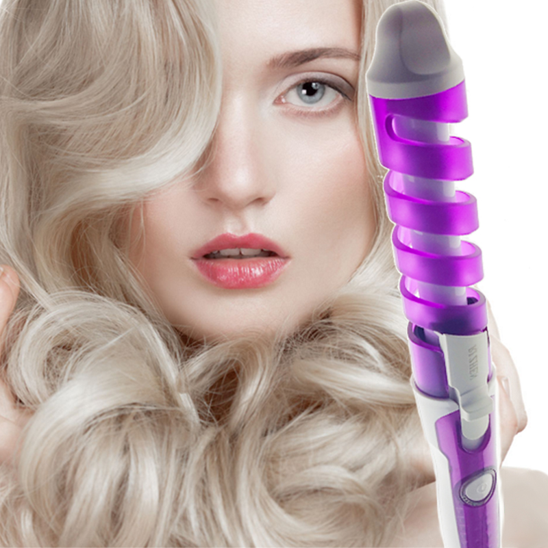 HOT! Magic Pro Perfect Hair Curlers Electric Curl Ceramic Spiral Hair Rollers Curling Iron Wand Salon Hair Styling Tools Styler(China (Mainland))
