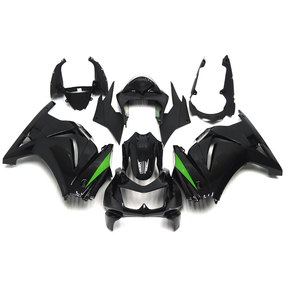 Complete Fairings For Kawasaki EX-250R EX250R Ninja 250 Year 08 09 10 11 12 Injection ABS Motorcycle Fairing Kit Black Green New(China (Mainland))