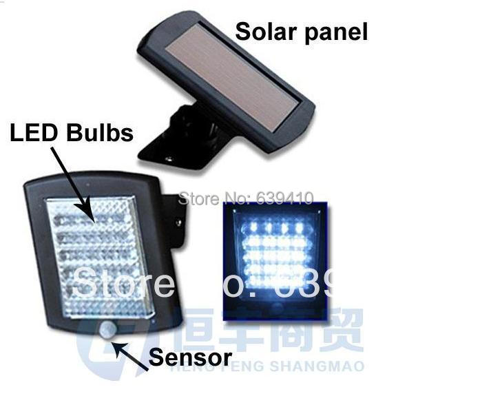 Free shipping,solar powered infrared sensor security light,36LED solar motion detection sensor lamp retailsale(China (Mainland))