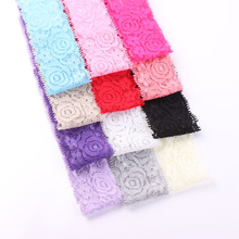 Free Shipping 5 Pcs/Lot Babies Baby 40mm Elastic Lace Headband Baby Girls Kids DIY Hair Band Accessories Handmade DIY Tools
