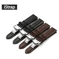 Calf Leather Watch band Watch Strap Butterfly Clasp for Seiko Oris Citizen for omega watchband for
