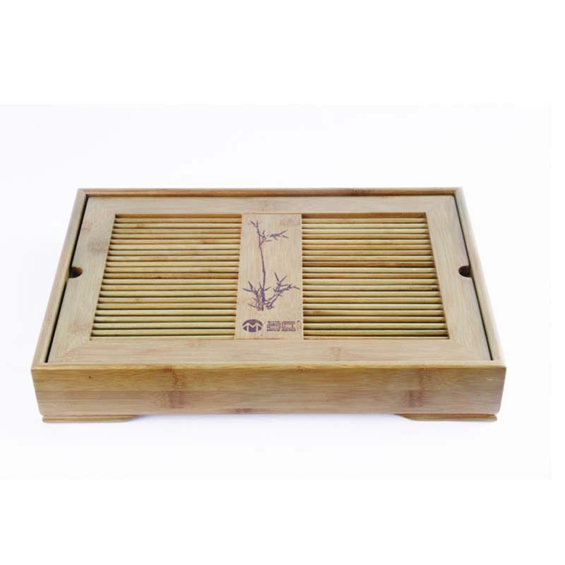Slatted Bamboo Box Gongfu Tea Serving Tray TP079Y Medium Size<br><br>Aliexpress