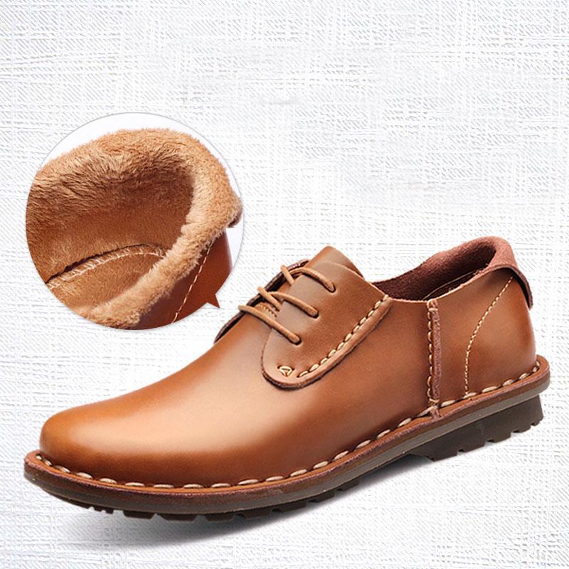 Здесь можно купить  2016 Spring Fashion Mens Leather Shoes Black / Brown Casual Man Genuine Leather Shoes Leisure Men Flats Chaussure Homme F2   Обувь
