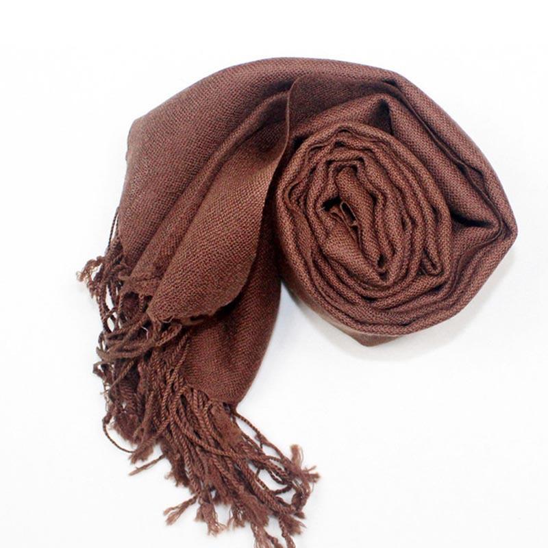 100% Lamb's Wool Women's Brown Scarfs,180*70CM Long Size Fine Texture Casual Warm Shawls,Echarpe Women,Cachecol Feminino 1005(China (Mainland))
