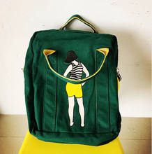 Harajuku Canvas Printing Backpacks Preppy Style School Bags For Teenager Girls Multifunction Travel Bag Backpack Mochila Escolar(China (Mainland))