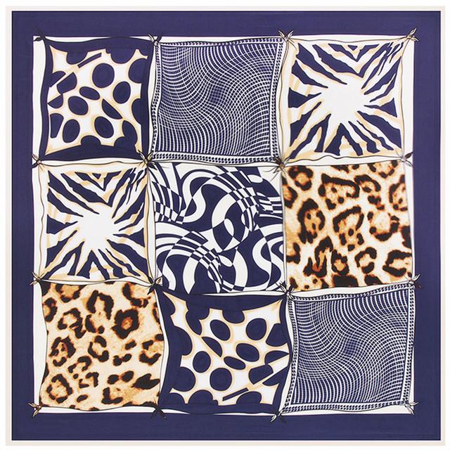 100 см * 100 см саржевые шелковый женщины 100% шелковая сетки геометрических леопарда точка печатается высокое качество шарф мусульманский хиджаб B115