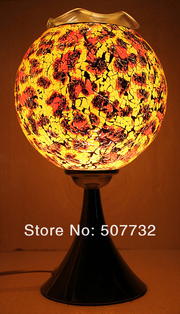 Wholesale Free shipping Hot Sale safe packing Mosaics electric aroma oven ,oil lamps decorative lamps -MS-F002