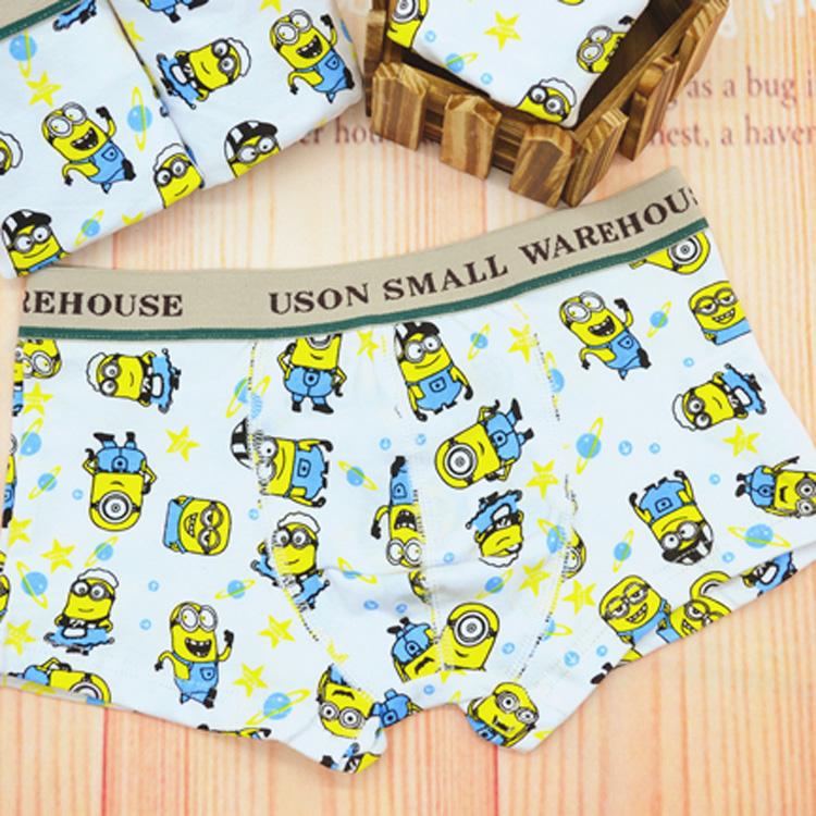boys Panties briefs 2015 kids underwear boxers Minions dinosaur animal cotton designer baby underpants for male panties children