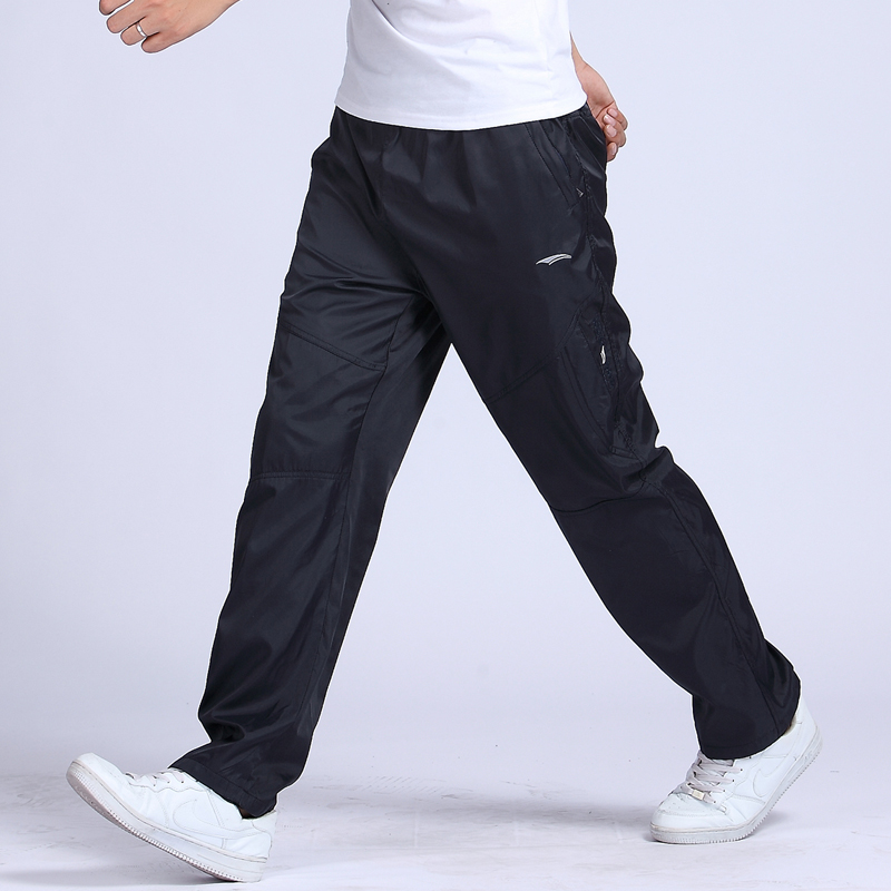 Spring summer sports pants men's clothing male health casual plus size long trousers single tier net breathable - xiaozhen hu's store