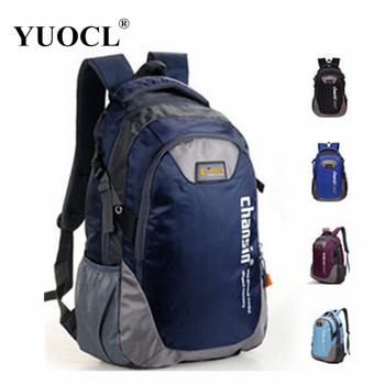 YUOCL fashion casual sport double-shoulder travel backpack for women school bags for teenagers printing men backpack sac a dos