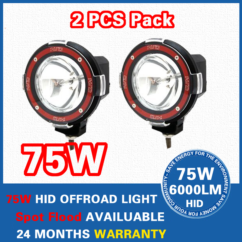4 inch 12V 75W Spot Beam Truck/Boat Fog Lamp Hid Driving Light HID Road Xenon Work - 4x4 Auto Store store