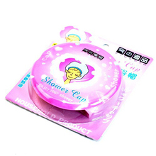 3pcs/lot Waterproof Shower cap,Beauty Town beauty care accessory shower caps,hotel shower hat,Pink Colors bath hat,Free Shipping(China (Mainland))