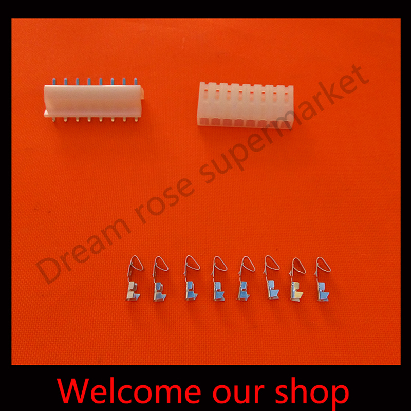100sets CH3.96mm  8Pin wire cable connector pitch  Header+Terminal+Housing free shipping<br><br>Aliexpress