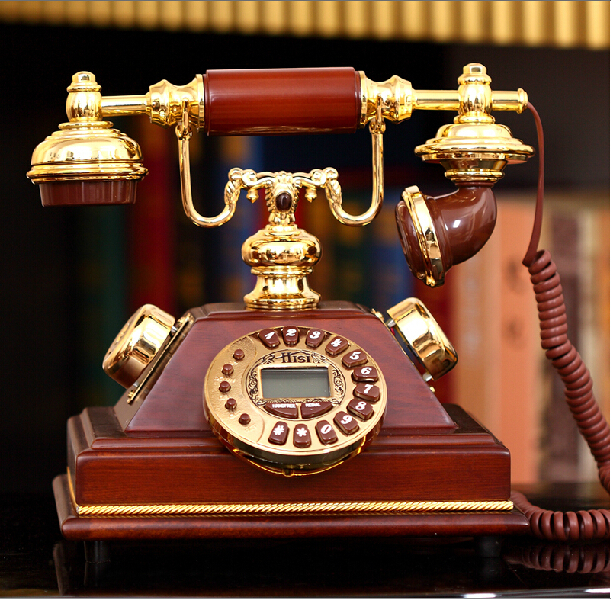 Bell Telephone European fashion new solid wood antique telephones ringing telephones classical mechanical Wo letter(China (Mainland))