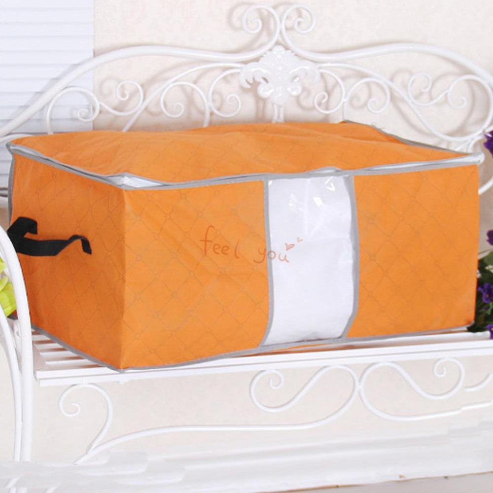 orange 3 sizes u pick foldable storage bag clothes blanket