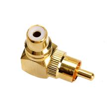High Quality Right Angle RCA Adaptor Male to Female Connector Joint 90 Degrees GUB#