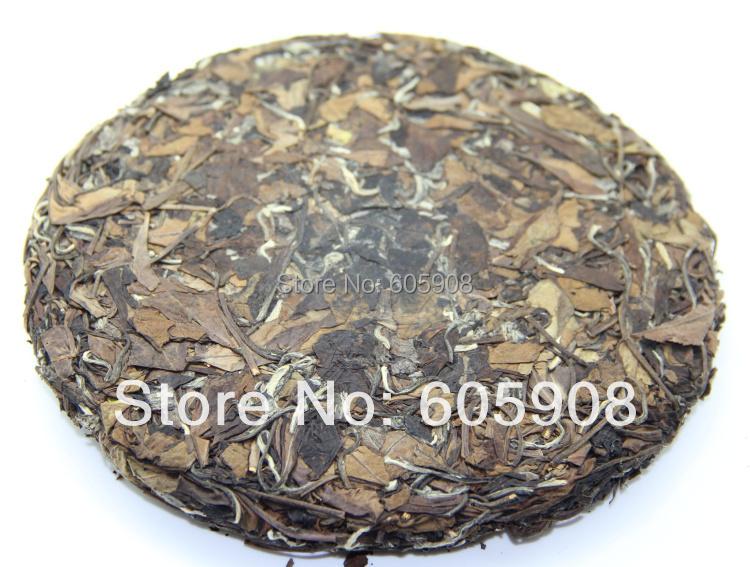 357g Year White Tea Aged Organic Bai Mu Dan Cake